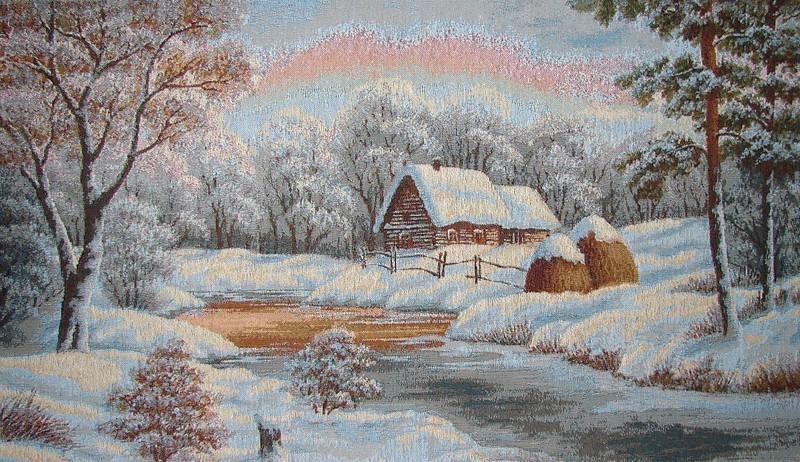 Как сделать картину про зиму